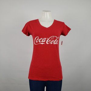 Coca Cola Red Cotton Shirt Size S